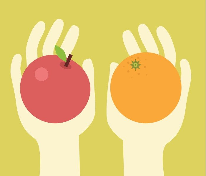 apples-and-oranges-vector-id165043575