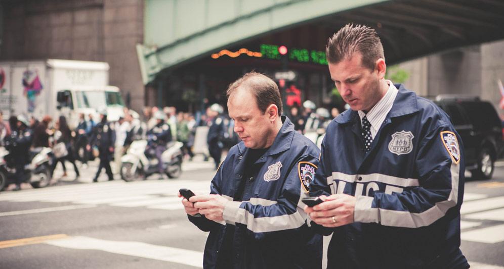 Policemen on duty