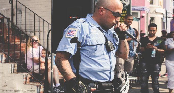 Police speaking