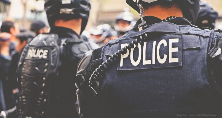 Police on duty