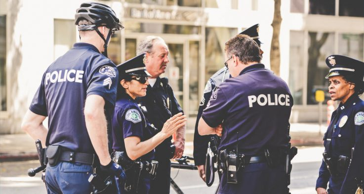 police officers talking