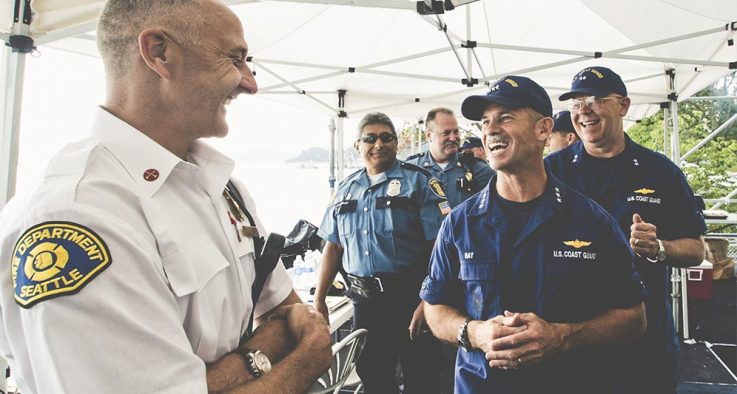 law enforcement officers laughing
