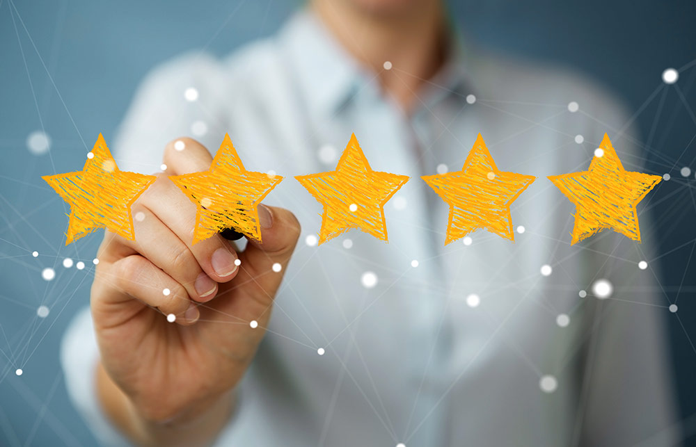 a business woman's star rating