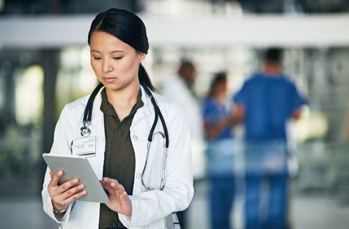 doctor working from BYOD device