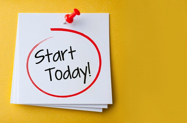 start policies today sticky notes
